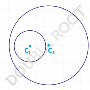 shortest distance circles